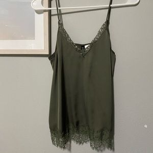 silky lace tank top